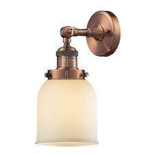 1 Light Glass Bell Wall Sconce