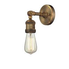 1 Light Bare Bulb Wall Sconce