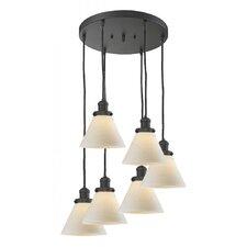 Glass Cone 6 Light Pendant