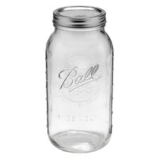 Ball 64-Ounce Wide Mouth Half Jar (Set of 6)