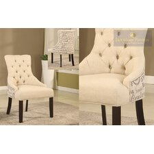 Natural Fabric Arm Chair (Set of 2)