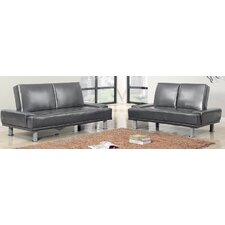 2 Piece Multifunctional Futon Sleeper Sofa Set