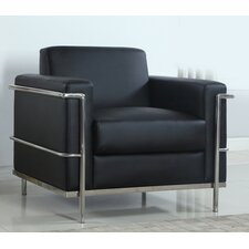 Modern Arm Chair with Chrome Frame