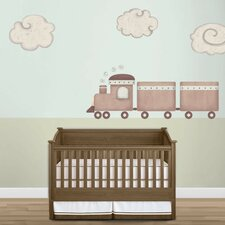 Train and Cloud Wall Stickers