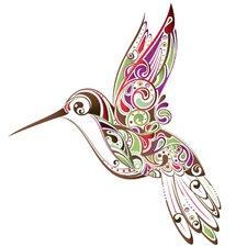 Hummingbird Swirl Wall Sticker