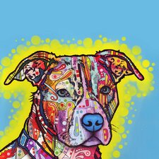 Painted Pit Bull Wall Decal