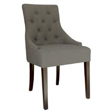 Set Of 2 Linen Fabric Accent Chair With Stud Detail (Set of 2)