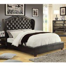 Queen Crystal Tufted Platform Bed