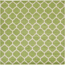 Trellis Green Area Rug