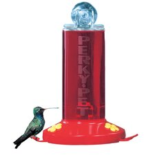 Perky Pet 8 oz Acrylic Window Bird Feeder with 2 Fountains