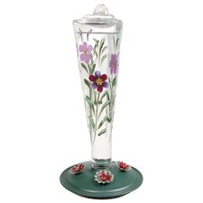 Opus Avant Garden Violet Meadows Glass Hummingbird Feeder
