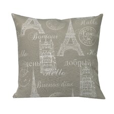 Bonjour Feather Filled Throw Pillow
