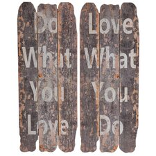 What You Love Wall Decor (Set of 2)