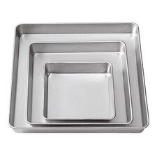 Square Aluminum 3 Piece Bakeware Set