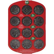 Non-Stick 12 Cavity Snowflakes Cookie Pan