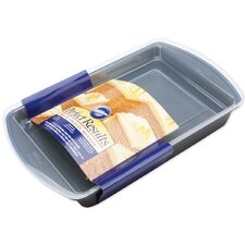 Non-Stick Perfect Oblong Cake Pan with Cover