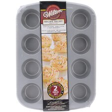 2 Peice Non-Stick 12 Covered Muffin Pan Set
