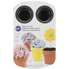 6 Cavity Mini Flower Pot Pan