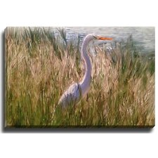 Egret by Patch Wihnyk Painting Print on Canvas