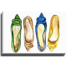 Four Shoes by Lady Gatsby Painting Print on Gallery Wrapped Canvas