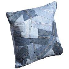 Denim Cotton Throw Pillow