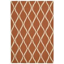 Portico Orange Latticework Indoor/Outdoor Area Rug