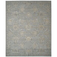 Silk Infusion Grey Damask Area Rug