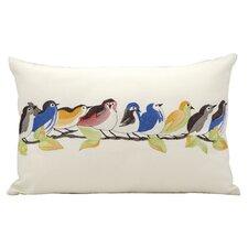 9 Birds on a Wire Lumbar Pillow