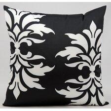 Double Damask Outdoor Throw Pillow