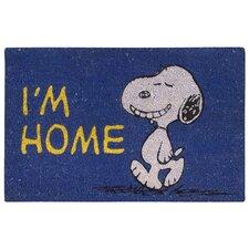 """Peanuts """"I'm Home"""" Doormat"""