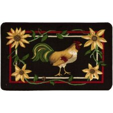 """Décor Red """"Rooster"""" Area Rug"""