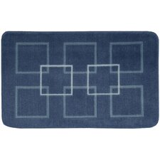 """Décor Blue """"Squares"""" Area Rug"""