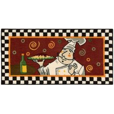 """Décor Red """"Chef"""" Area Rug"""