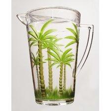 Palm Tree Acrylic Pitcher