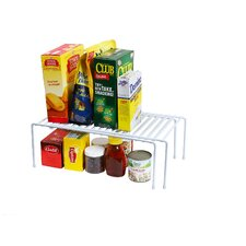 Expandable Adjustable Counter and Cabinet Shelf Organizer