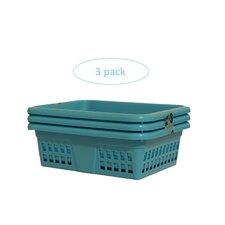 Plastic Storage Basket and Drawer Organizer (Set of 3)