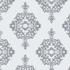 Diamond Damask Panel Wallpaper