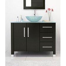 "Crater 39.5"" Single Modern Bathroom Vanity Set"