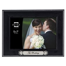 Newlywed 'The Wedding' Styrene Wood Grain Picture Frame