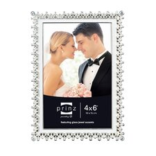 Elegance Metal with Enamel Inlay and Jewels Picture Frame