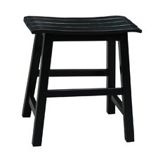 "Slat Seat 18.25"" Bar Stool"