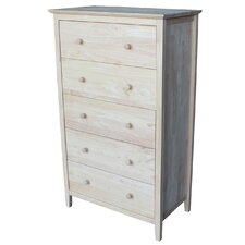 Shaker Style 5 Drawer Chest