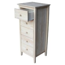 Shaker Style 5 Drawer Lingerie Chest