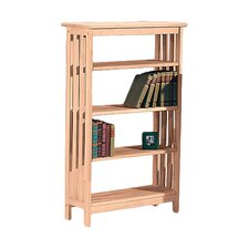 """Unfinished Wood Mission 48"""" Bookcase"""