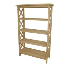 """Unfinished Four Tier 48"""" Etagere"""