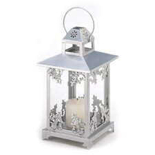 Lily Iron and Glass Lantern
