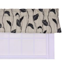 """Concetta Large Scale Leaf and Vine 50"""" Curtain Valance"""