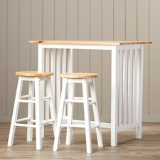 Savannah 3 Piece Counter Height Pub Table Set