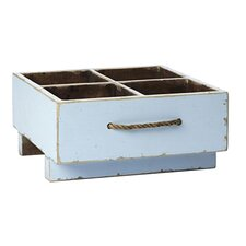 Ira Distressed Square Milk Crate with Rope Handles
