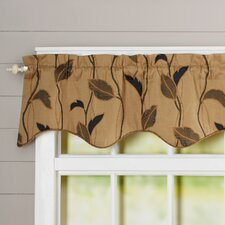 """Large Scale Leaf and Vine Lined Duchess Filler 50"""" Curtain Valance"""